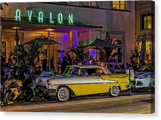 Classic Car At The Avalon Canvas Print