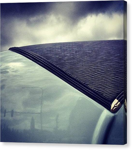 Stoplights Canvas Print - #classic #car #top #roof #blue #clouds by Jenny Coale