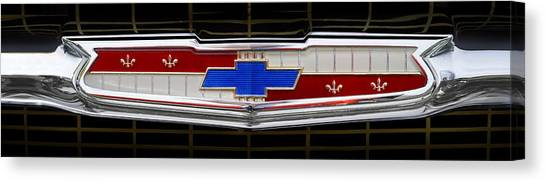 Grills Canvas Print - Classic Chevrolet Emblem by Mike McGlothlen