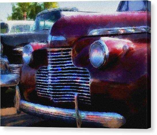 Classic Chevy Water Color Canvas Print