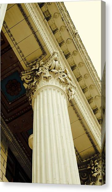 Classic Column Canvas Print by Cathie Tyler