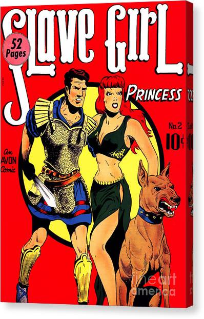 Old Comic Book Cover Texture : Classic comic book cover slave girl princess