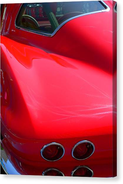 Canvas Print featuring the photograph Classic Corvette Art Lines by Jeff Lowe