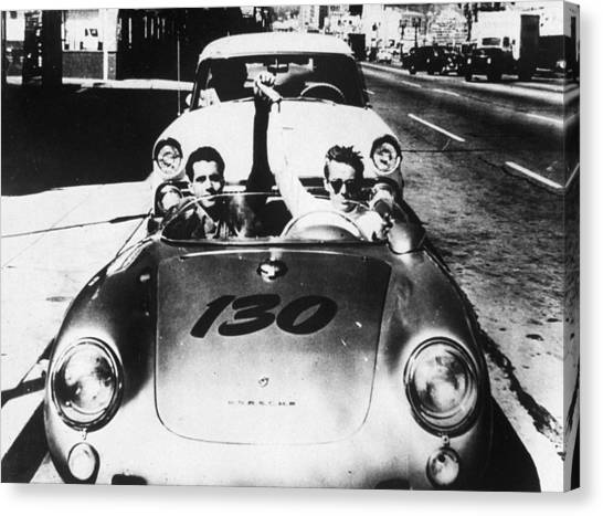 James Dean Canvas Print - Classic James Dean Porsche Photo by Georgia Fowler