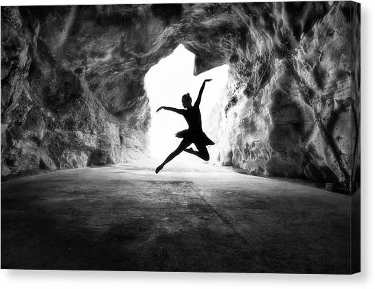 Caves Canvas Print - Classic Jump by Osher Partovi