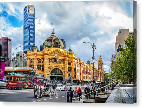 Carts Canvas Print - Classic Melbourne by Az Jackson