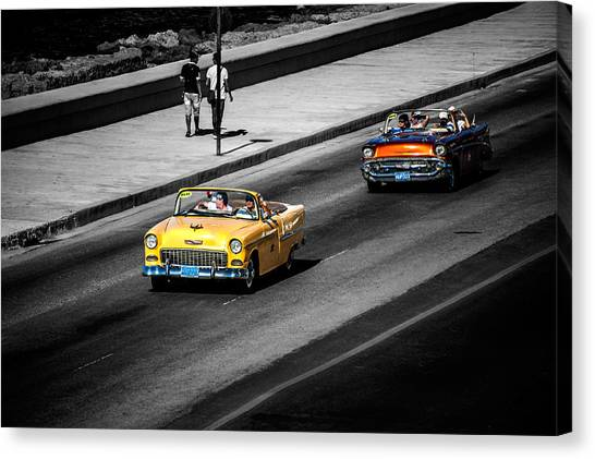 Classic Old Cars V Canvas Print