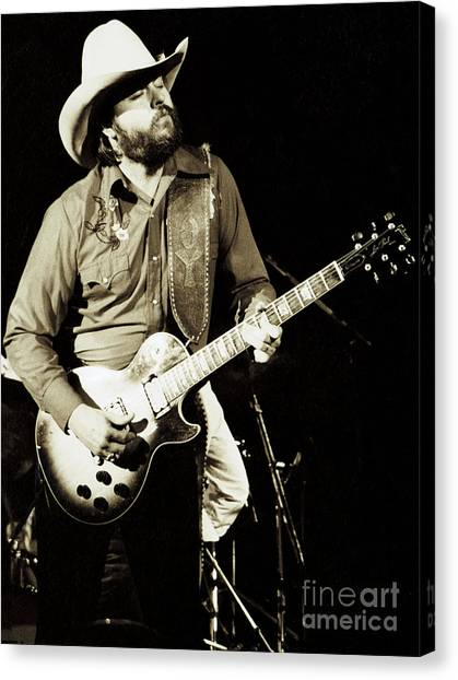 Classic Toy Caldwell Of The Marshall Tucker Band At The Cow Palace-new Years Concert  Canvas Print