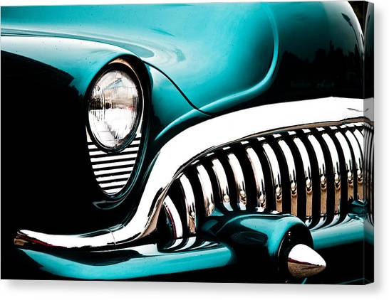 Classic Turquoise Buick Canvas Print