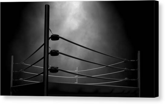 The Amphitheatre Canvas Print - Classic Vintage Boxing Ring by Allan Swart