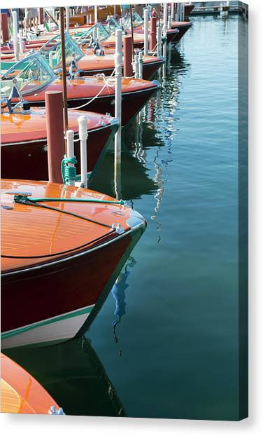 Classic Wooden Boats Canvas Print by Jenniferphotographyimaging