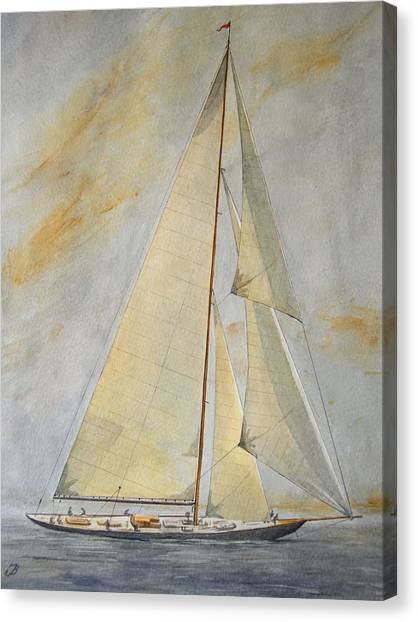 Ships Canvas Print - Classic Yacht by Juan  Bosco