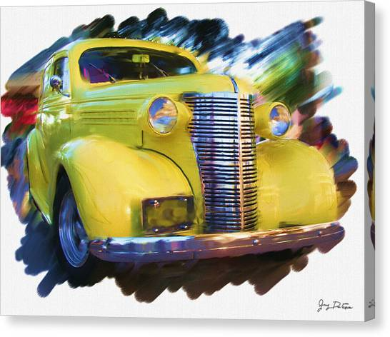 Classic Yellow Car  Canvas Print