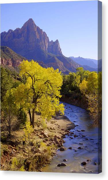 Geology Canvas Print - Classic Zion by Chad Dutson