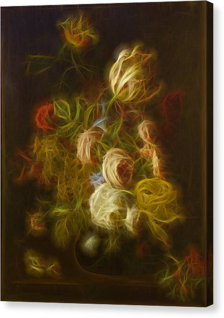 Floral Digital Art Canvas Print - Classica Modern - M01 by Variance Collections