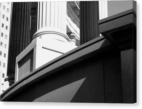 Classical Architectural Columns Black White Canvas Print