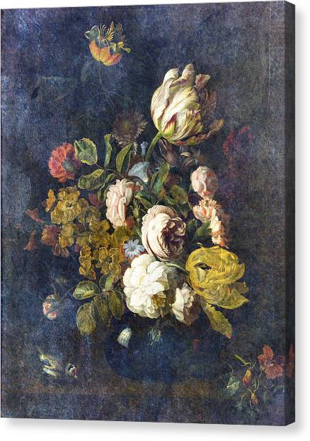 Floral Digital Art Canvas Print - Classical Bouquet - S0104t by Variance Collections