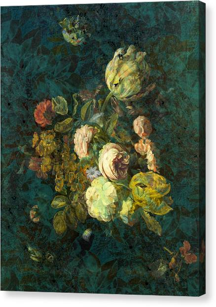 Floral Digital Art Canvas Print - Classical Bouquet - S04bt01 by Variance Collections