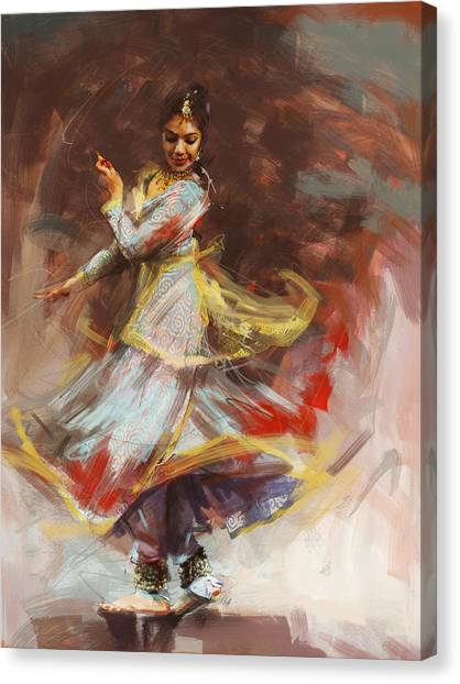 Indians Canvas Print - Classical Dance Art 8 by Maryam Mughal