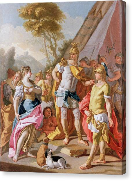 Amazon Canvas Print - Classical Scene by Francesco de Mura