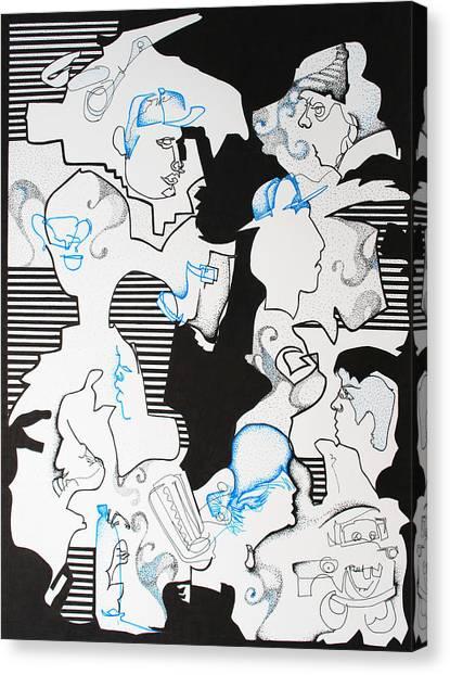 Classmates Canvas Print by Zuzana Vass