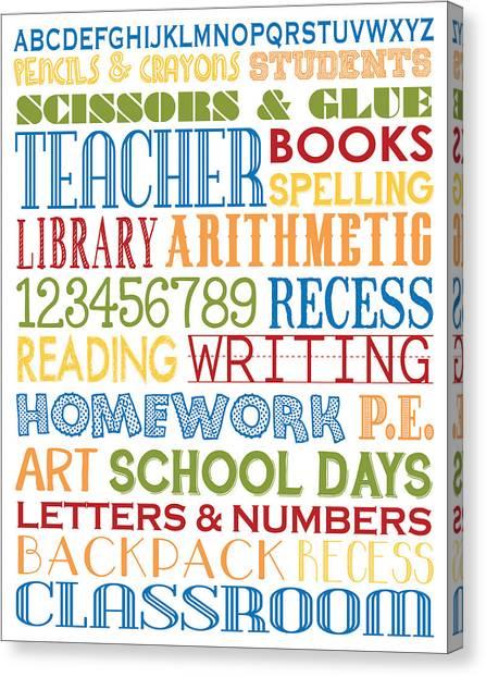 Elementary School Canvas Print - Classroom Subway Art Poster by Jaime Friedman