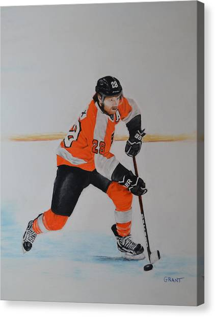 Claude Giroux Philadelphia Flyer Canvas Print