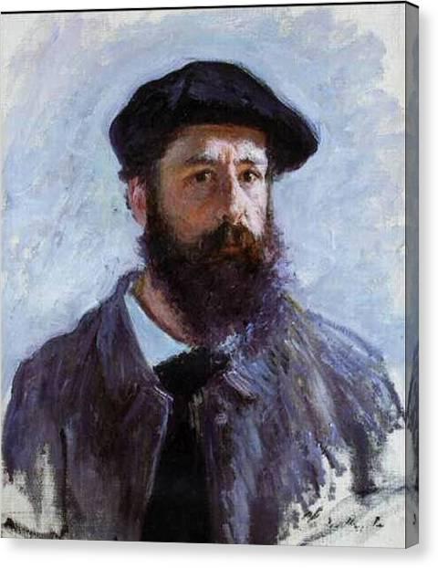Claude Monet Self Portrait Canvas Print by Claude Monet - L Brown