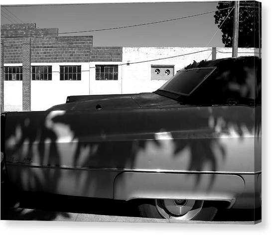 Claws On The Coupe Deville Canvas Print