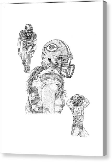 Clay Matthews Canvas Print - Clay Matthews 52 by Joe Rozek