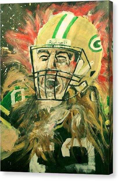 University Of Wisconsin - Madison Canvas Print - Clay Matthews by Dan Engh
