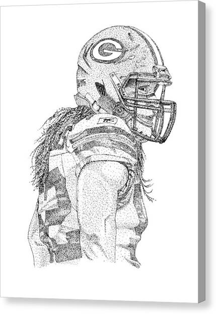 Clay Matthews Canvas Print - Clay Matthews by Joe Rozek