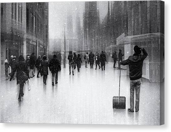 Street Canvas Print - Clean City 2 by Roswitha Schleicher-schwarz