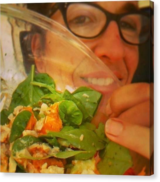 Tuna Canvas Print - #clean #food #real #salad #lunch by Rachel Friedman
