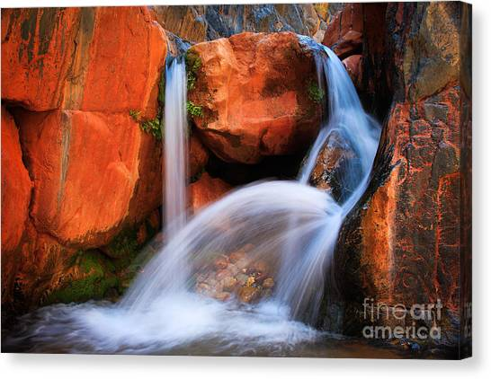 Splashy Canvas Print - Clear Creek Falls by Inge Johnsson