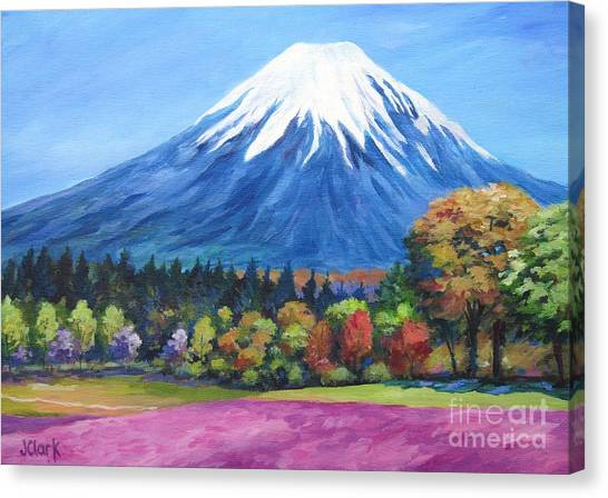 Mount Fuji Canvas Print - Clear Day Mount Fuji by John Clark