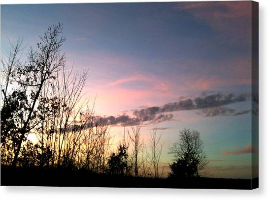 Clear Evening Sky Canvas Print