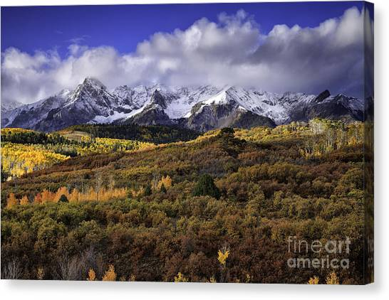 Clearing Storm At The Dallas Divide Canvas Print