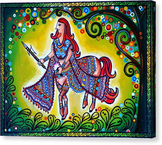 Madhubani Canvas Print - Clement Combatant by Deepti Mittal