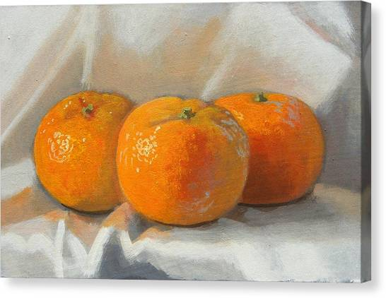Clementines Canvas Print by Peter Orrock