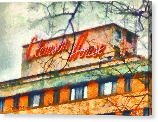 Clemson University Canvas Print - Clemson House by Lynne Jenkins