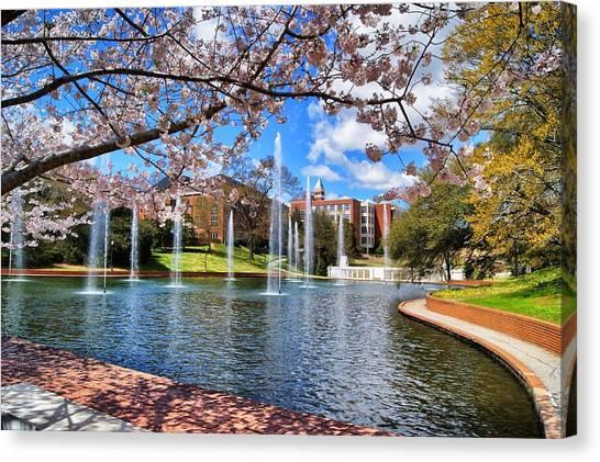 Clemson University Canvas Print - Clemson University Springtime by Richie Knight