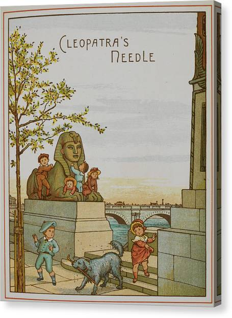 Mythological Creatures Canvas Print - Cleopatra's Needle And The Sphinx by British Library
