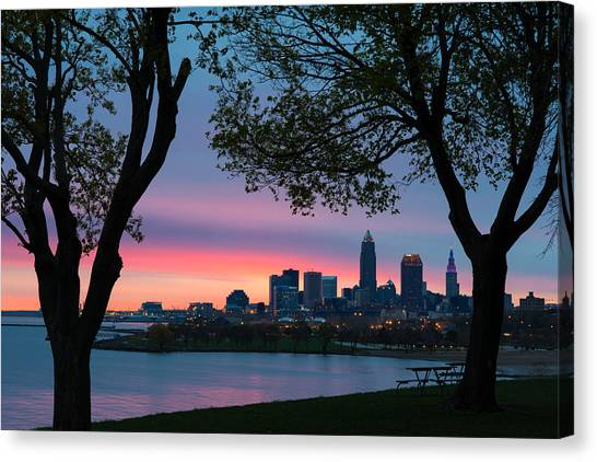 Cleveland At Dawn Canvas Print