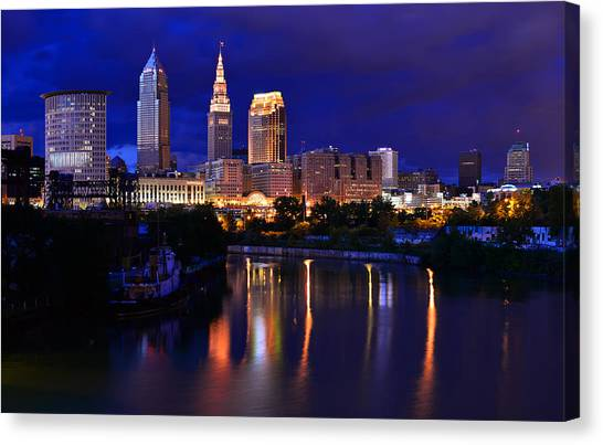 Cleveland At The River's Bend Canvas Print
