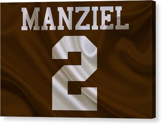 Johnny Manziel Canvas Print - Cleveland Browns Johnny Manziel by Joe Hamilton
