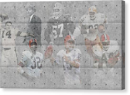 Cleveland Browns Canvas Print - Cleveland Browns Legends by Joe Hamilton