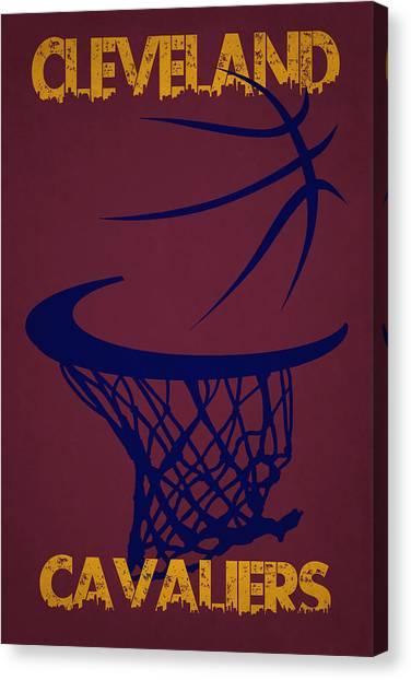 Cleveland Cavaliers Canvas Print - Cleveland Cavaliers Hoop by Joe Hamilton
