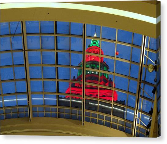 Cleveland Christmas Tower Canvas Print