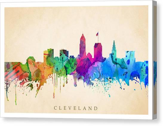 Cleveland Cityscape Canvas Print